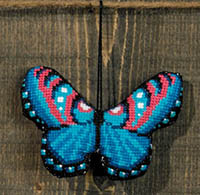 Blue Red Butterfly Ornament Kit