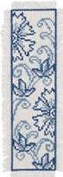 Blue Flower Bookmark Kit