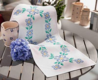 Blue Summer Table Runner