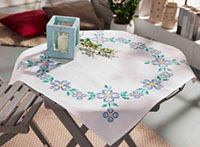 Blue Summer Tablecloth