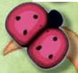 1103 Cranberry Ladybug - Just Another Button Co