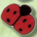 1104 Red Ladybug - Just Another Button Co
