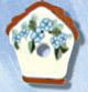 1121 Floral Birdhouse - Just Another Button Co