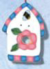 1122 Pink/Blue Birdhouse - Just Another Button Co