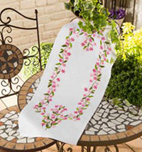 Pink & White Table Runner