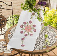 Pink Marguerite Table Runner