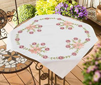 Pink Marguerite Tablecloth