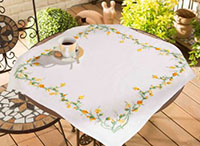 Buttercup Border Tablecloth