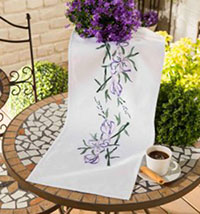 Purple Cala Table Runner
