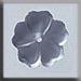 T12006 - 5 Petal Flower - Matte Sapphire