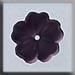 T12007 - 5 Petal Flower - Matte Amethyst