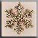 T12038 Medium Snowflake - Gold