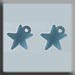 T12045 - Very Small Domed Star - Matte Aqua (2)