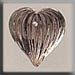 T12067 - Medium Fluted Heart - Rosaline