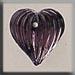T12068 - Medium Fluted Heart - Amethyst