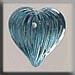 T12069 - Medium Fluted Heart - Aqua