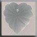T12070 Frosted Starburst Heart - Matte Crystal