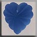 T12071 - Frosted Starburst Heart - Matte Sapphire