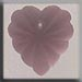 T12072 - Frosted Starburst Heart - Matte Rose