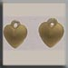 T12075 - Very Small Domed Heart - Matte Gold (2)