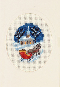 Sleigh & Horse Card Kit