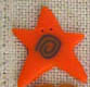 3504 Orange Swirly Star - Just Another Button Co
