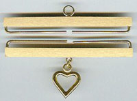 Satin Brass with Heart Bellpull Hardware