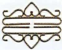 Bright Hammered Brass Bellpull Hardware