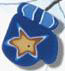 4421 Blue Mitten With Star- Just Another Button Co