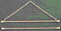 Double Brass Rod Bellpull Hardware