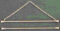 Double Brass Rod Bellpull Hardware