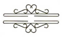 Heart Bright Iron Bellpull Hardware