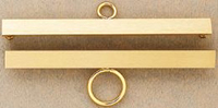 Satin Finish Brass Bellpull - 16 cm  or 6 1/4 in