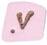 0600E Pink Alphabet Letters E, H, L, O, P, V