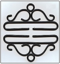Black Wrought  Iron Bellpull Hardware