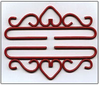 Red Wrought Iron Bellpull Hardware