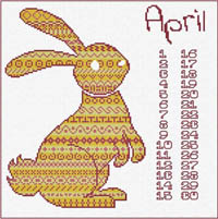 Animal Calendar - April Rabbit