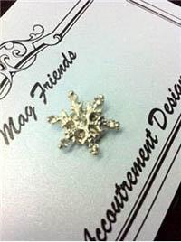 Glamorous Snowflake Magnet Set