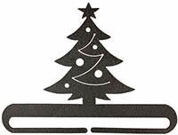 Christmas Tree Split Bottom Charcoal Bellpull