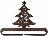 Christmas Tree Split Bottom Copper Vein Bellpull