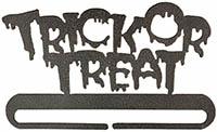 Trick or Treat Split Bottom Charcoal Bellpull