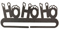 Ho Ho Ho Split Bottom Charcoal Bellpull