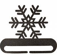 Snowflake Split Bottom Charcoal Bellpull