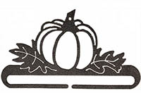 Pumpkin Patch Split Bottom Charcoal Bellpull