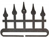 Iron Fence Split Bottom Charcoal Bellpull