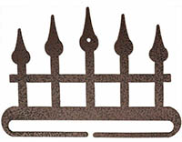 Iron Fence Split Bottom Copper Vein Bellpull