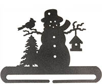 Frosty Snowman Split Bottom Charcoal Bellpull
