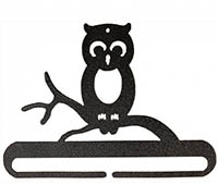 Whimsical Owl Split Bottom Charcoal Bellpull