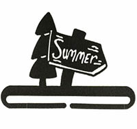 Summer Sign Split Bottom Charcoal Bellpull