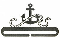 Anchor Split Bottom Charcoal Bellpull